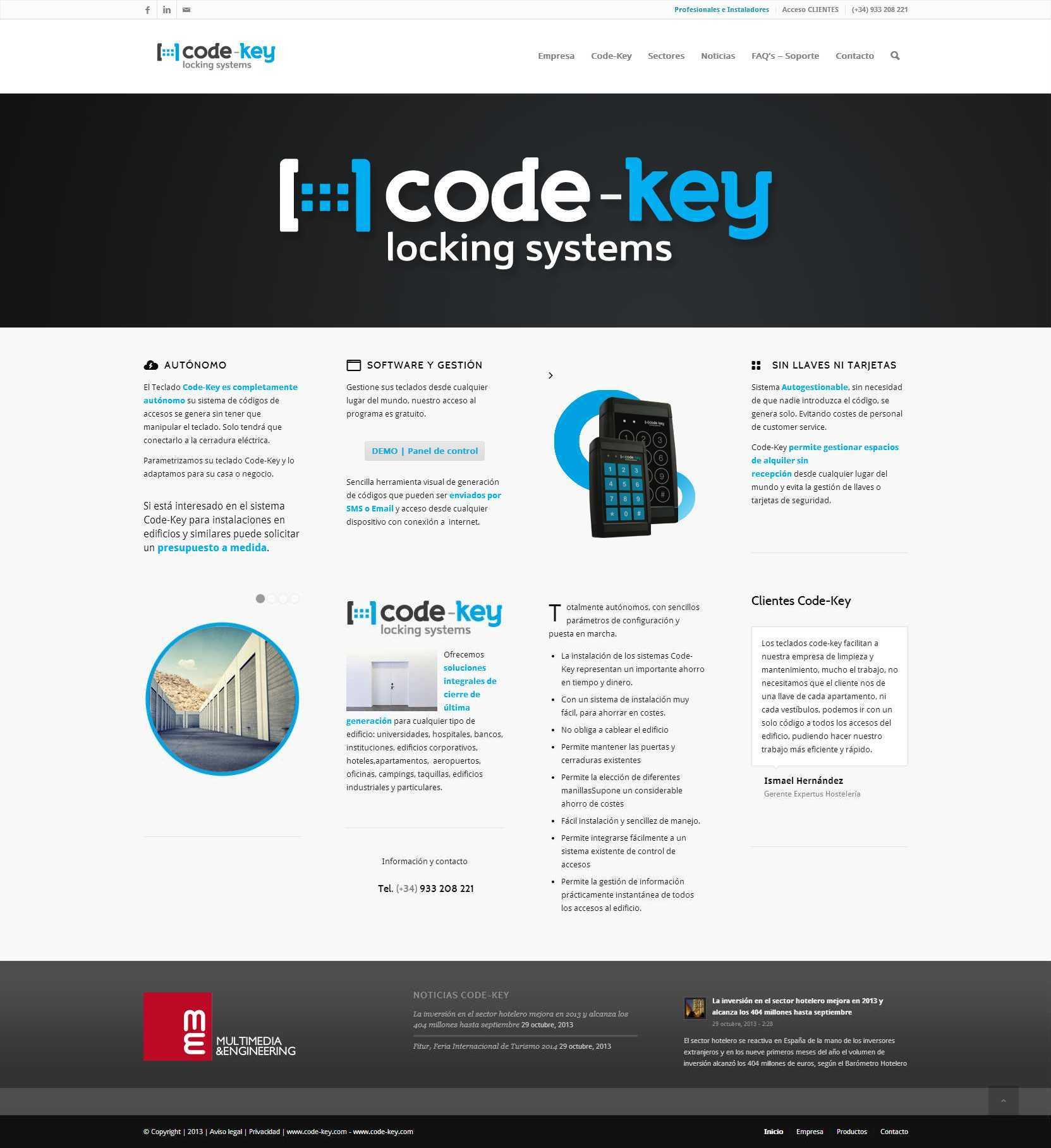 Code-Key - Locking Systems - Control de accesos autónomo por teclado2
