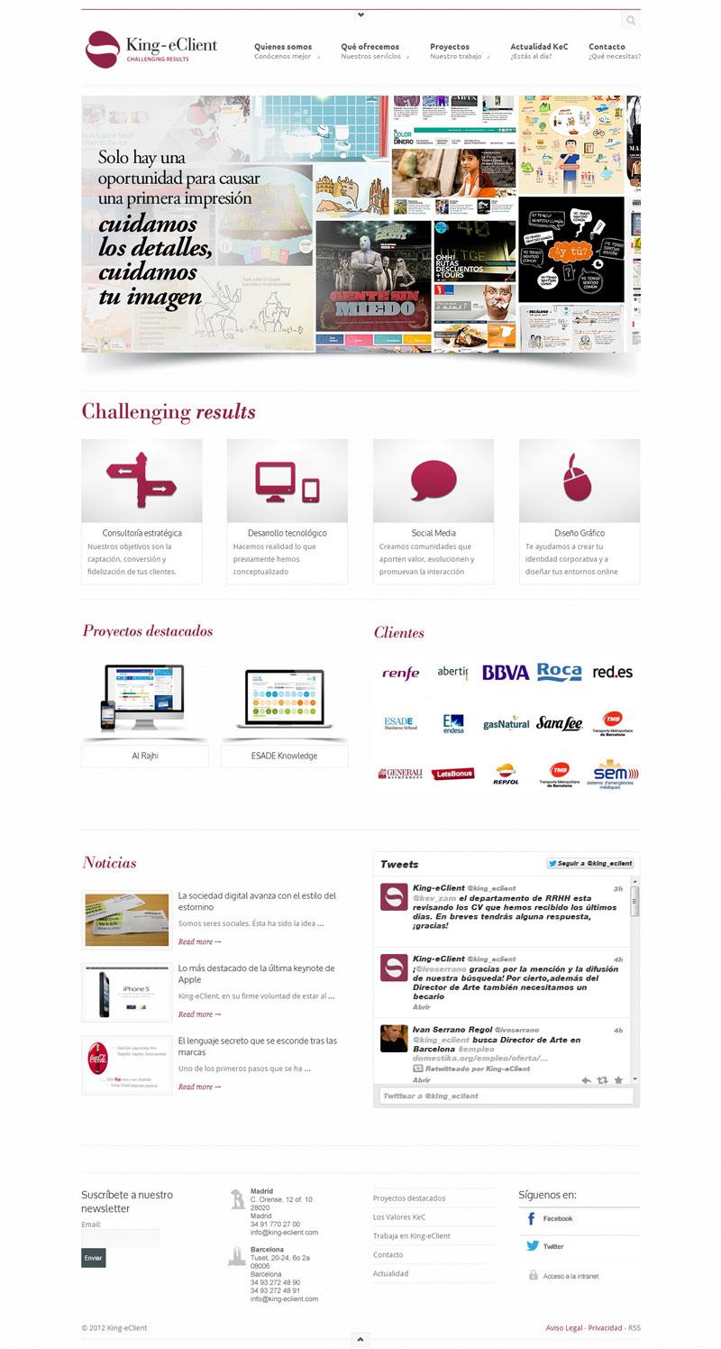 Portfolios cocoin consultor a web barcelona for Oficina king barcelona