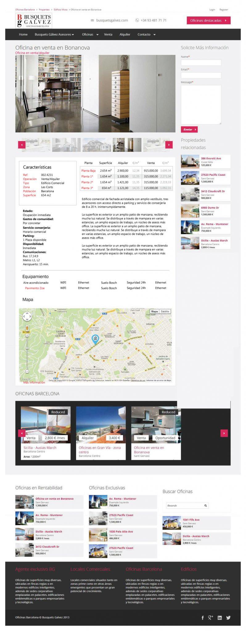 Web oficinas BG