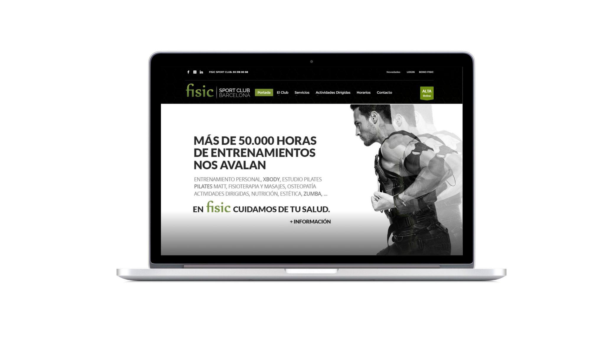 Diseño web gimnasio